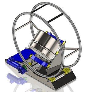 powder mixer 3D model