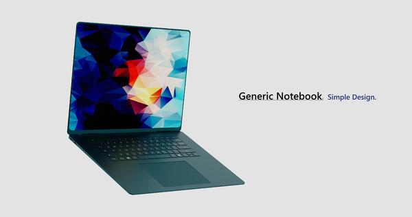 generic notebook 3D