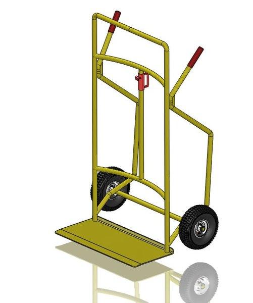3D barrel trolley model