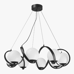 3D 803167 globo lightstar chandelier model