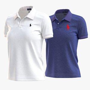 3D model polo shirt