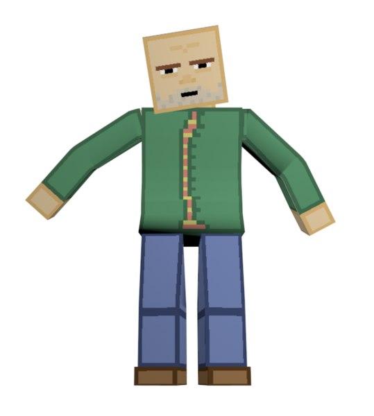 3D model character rig