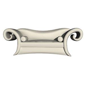 sofa tissu blanc 3D