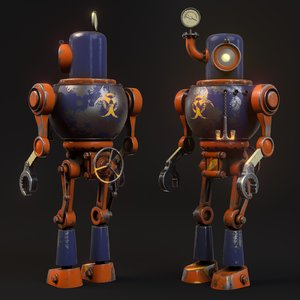 steam robot model