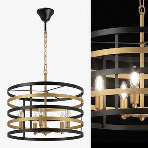 735050 epsilon lightstar chandelier 3D model