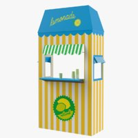 Lemonade Booth 3D Model