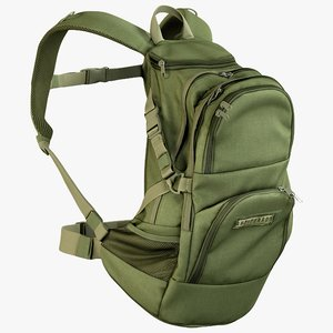 3D realistic camping backpack medium model