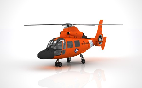 helicopter hh-65 dolphin 3D model