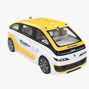 navya autonom cab 3D