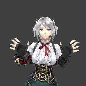 medieval girl model