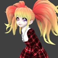 3D cute girl
