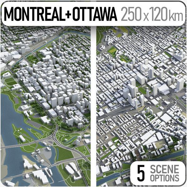 city montreal ottawa - 3D model