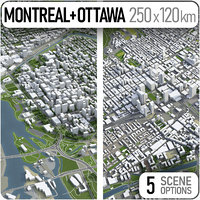 city montreal ottawa - 3D model