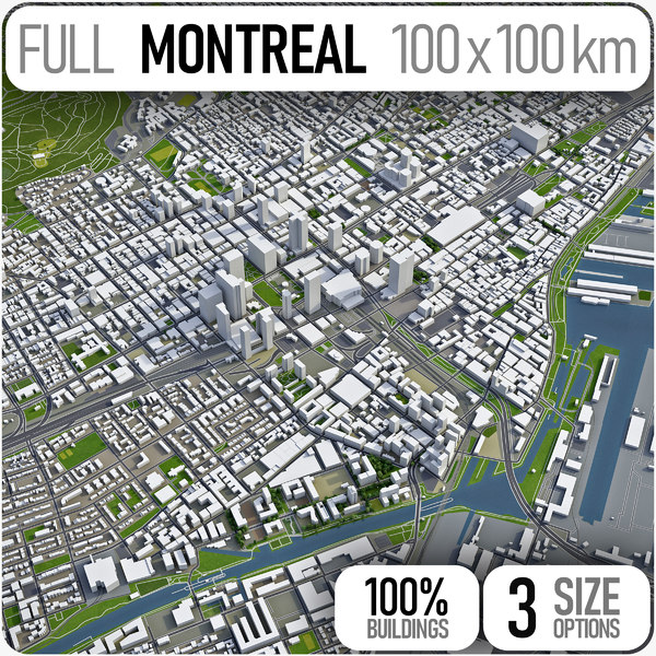 montreal area urban 3D model