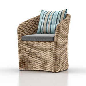 3D model cayman outdoor dining chair
