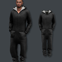 Hoody Jumpsuit Male