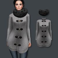 3D model sweater fur
