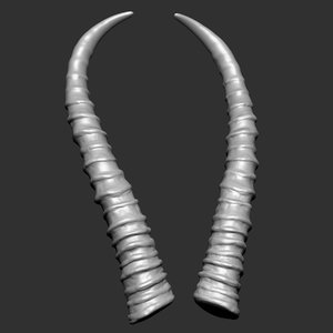 3D gazelle antelope horns model