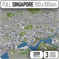3D singapore area urban