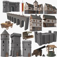 real castle modeled 3D model