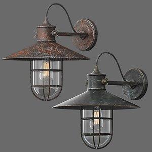 pendant light old 3D model