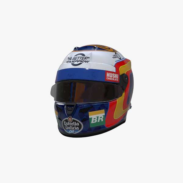 sainz 2019 helmet 3D model