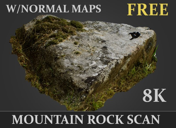 3D mountain rock scanned