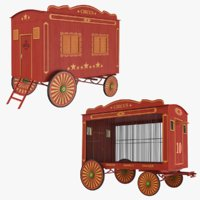 3D circus wagons