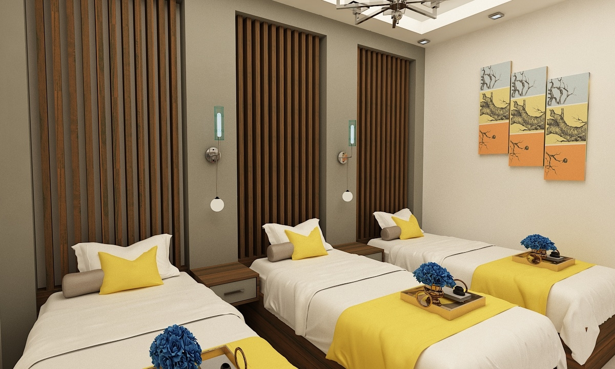3D hotel room fl model