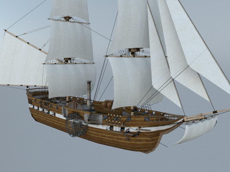 steamship steam 3D model