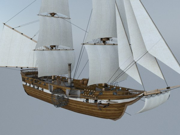 steamship steam 3D model
