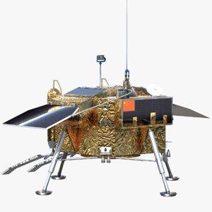 e chang 4 lunar lander 3D model