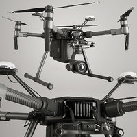 quadcopter dji matrice 3D model