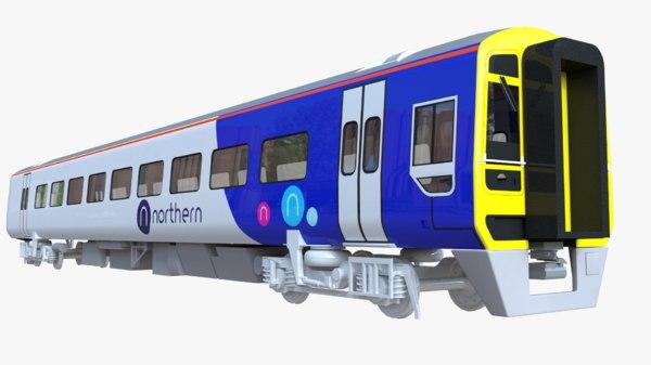 3D british train class 158