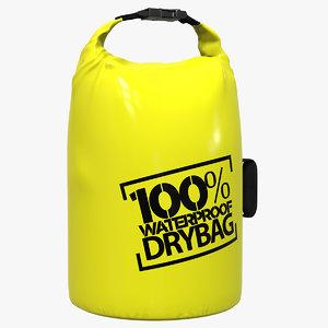 3D waterproof dry bag model