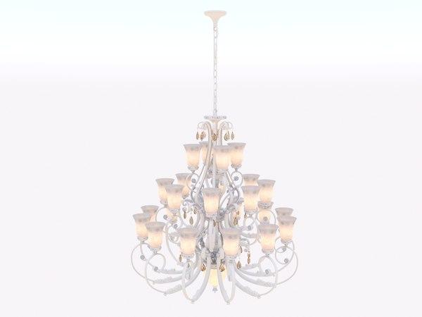 wonderful palace chandelier 3D model