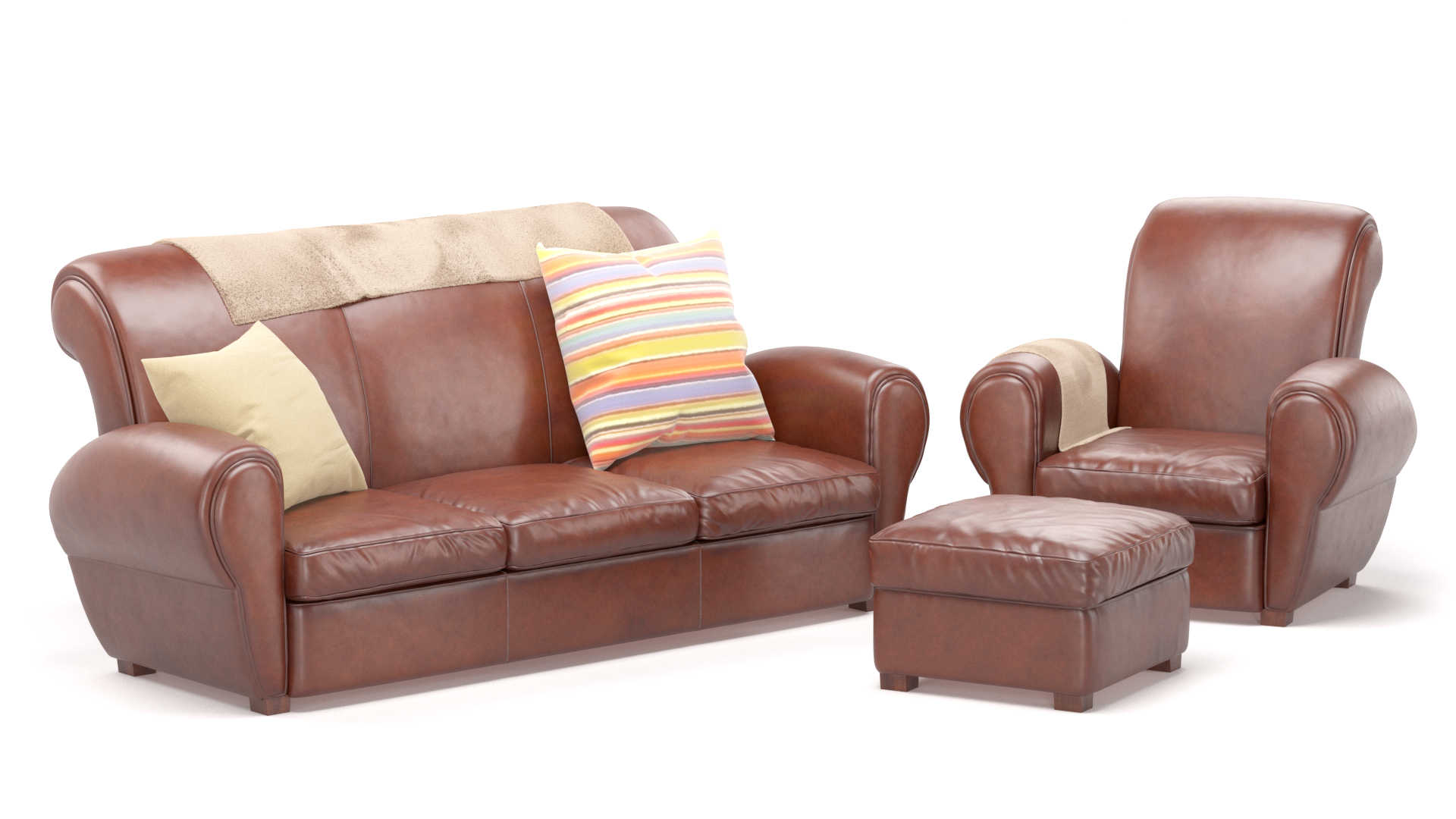 Fabulous Moroni Havana Leather Sofa Gmtry Best Dining Table And Chair Ideas Images Gmtryco