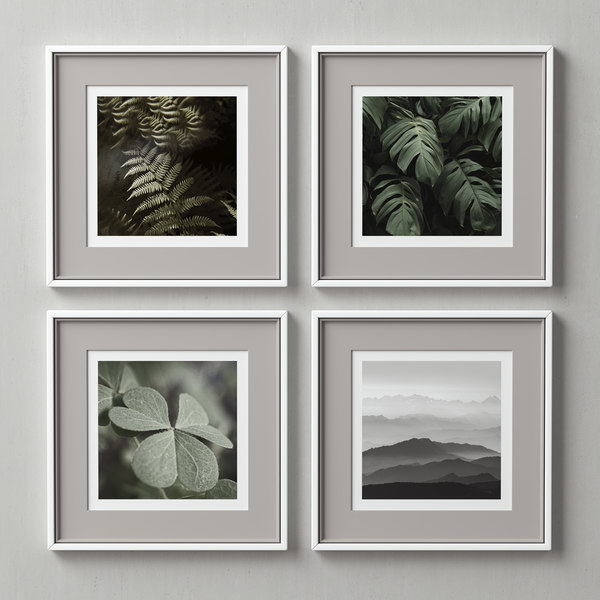 3D model picture frames set