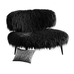 wool woolly bella armhair 3D