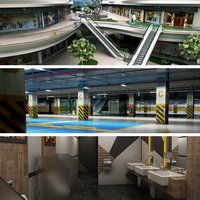 3D model shopping mall car park
