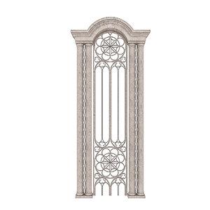 classical building entrance 3D
