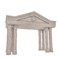 3D classical building entrance