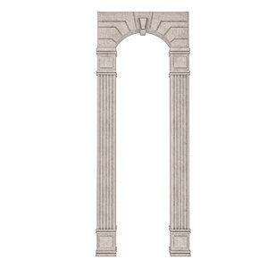 3D classical building entrance model
