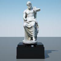 3D statue jupiter model