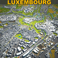 luxembourg skyline 3D