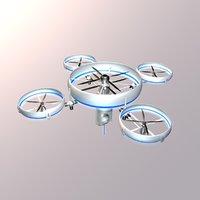 3D model aviation aircraft drone