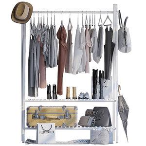 3D hanger womens clothes model