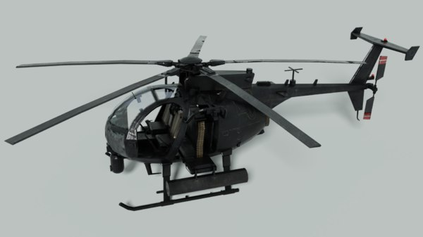 3D ah-6 helicopter army