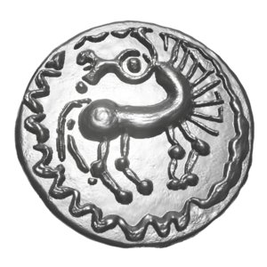 old celtic coin 3D