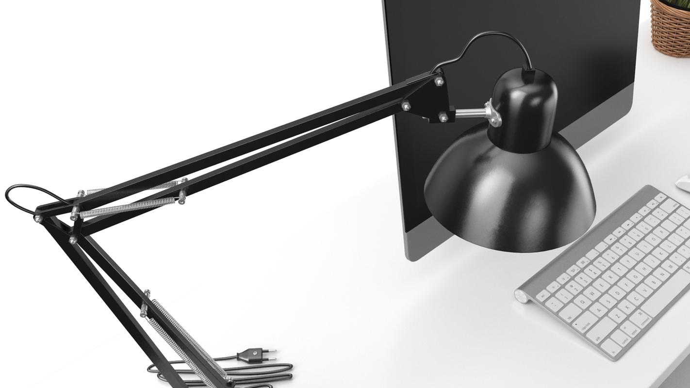 real office workstation 3D model